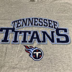NFL Tennesee Titans Football Gray Tee L